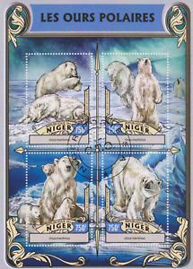 Polar Bears Niger Postmarked 2590