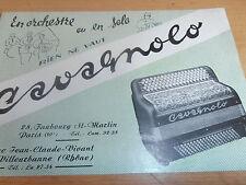 dépliant sur les accordéons  ( ref 8 )