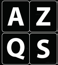 FRENCH AZERTY KEYBOARD STICKER LARGE LETTERS NON TRANSPARENT BLACK