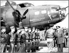 Photo: Nose Art: B-17F Flying Fortress Memphis Belle, Retirement Ceremony, 1943