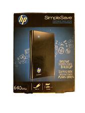 HP simplesave 640gb External Hard Drive