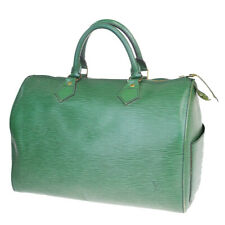 Auth LOUIS VUITTON Speedy 30 Travel Hand Bag Epi Leather Green M43004 39MA205