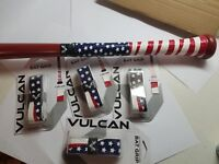 "6 Grips: ""America"" Vulcan Advanced 1mm Baseball Softball Bat Handle Cushion Tape"