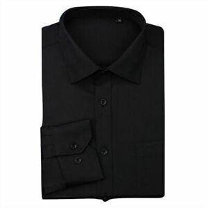 New Mens Long Sleeve Shirts Luxury Formal Business Dress Shirts Tops