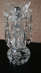 A Waterford Crystal Lustre Candle Holder in Super Unused Condition 25.5cm tall