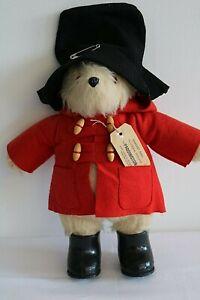 PADDINGTON BEAR Gabrielle Design Ltd Red Coat With Tag Black Hat & Boots VGC(D2)
