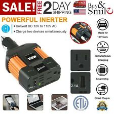 Power Lighter Inverter Car Cigarette Charger USB Converter DC 12V AC to 110V New