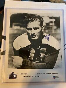 Don Hutson Green Bay Packers Hall of Fame Autographed 8x10 Photo Beckett BAS COA