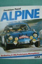 livre ALPINE / RENAULT RALLYE LE MANS ANDRUET 110 310 442 220 GORDINI THERIER