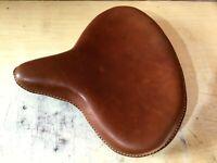 Genuine Leather HARLEY WLA WLC VL UL EL WL KNUCKLEHEAD SOLO SEAT FLATHEAD BROWN