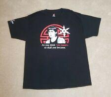 Bruce Lee Graphic T-Shirt - Mens Hanes Tagless Black Tee Size XL