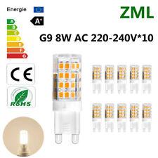 10x G9 LED Bulb 8W 51*2835SMD Cool White Energy Saving Light Super Bright AC220V