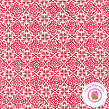 Moda NORTH WOODS Cranberry Red 27245 11 Kate Spain FABRIC  Hearts