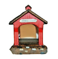 Department 56 Heritage Village Collection Red Covered Bridge  #59870 Pre-owned