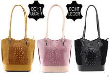 Damentaschen aus Leder mit Tiermuster und Reißverschluss