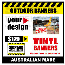 Custom Outdoor Vinyl Banner Sign  - 4800mmW x 900mmH Signage Warehouse