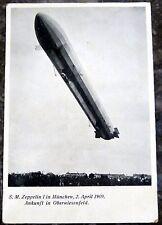 AK S. M. Zeppelin I in München 1909 Ankunft Oberwiesenfeld Ansichtskarte (39