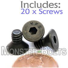 "#10-24 x 3/8"" - Qty 20 - FLAT HEAD Socket Cap Screws - Alloy Steel Black Oxide"