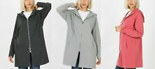 Zenana Long Sweatshirt Jacket Double Zipper Pockets Asst. Colors S/M M/L L/XL