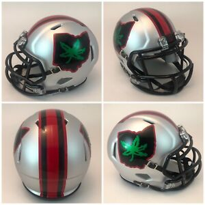 Ohio State Buckeyes Matte Silver Riddell Revo Speed Mini Football Helmet