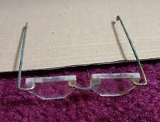 "Vtg Craft Doll Making Eye Glasses 3"" Miniature Gold Metal Wire Rim Santa"