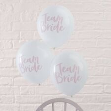10 Team Bride Party Balloons ~ Hen Party ~ Bridal Shower ~ Classy Ginger Ray