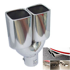 """63mm/2.5"""" Stainless Steel Inlet Auto Car Tail Rear Pipe Tip Muffler Cover Newly"""