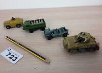1970s Vintage Lesney Matchbox Army Tanks DINKY toys Austin Military SHERMAN