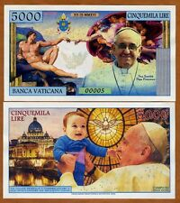 Vatican, 5000 Lire, 2016 Private Issue Kamberra, UNC > Pope Francis, Child