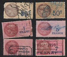 France 1925 Revenues Timbre Fiscal Revenues 50c-8F Lot Of 6