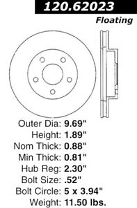 Disc Brake Rotor-High Performance Drilled And Slotted Centric 127.62023L