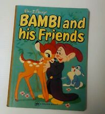 Bambi and His Friends Hc Book, 1971, Walt Disney Golden Book, Other Disney Too!