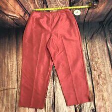 NWT Valerie by Valerie Stevens Women 100% Silk Pants Size 14W Crop Capri D103