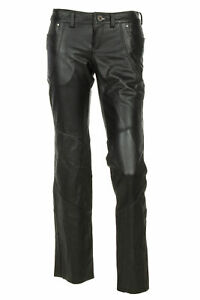 Harley Davidson 6 Highland Contoured Low Rise Boot Cut Leather Pants 98065-13VW