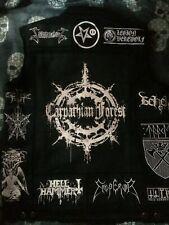 Black Metal Battle Jacket Cut-Off Denim Vest Darkthrone Watain Dark Funeral