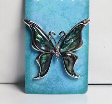 Brooch pin Shell Butterfly