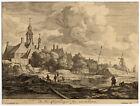 Antique Master Print-HUYDECOOPER HOUSE-AMSTERDAM-Blooteling-Ruisdael-ca. 1670