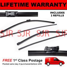 """FRONT AERO WINDSCREEN WIPER BLADES PAIR 26"""" + 21"""" FOR AUDI A6 ESTATE 2011 ON"""