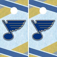 St. Louis Blues Cornhole Wrap NHL Hockey Game Board Skin Set Vinyl Decal CO356
