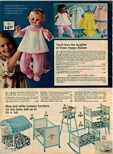 1974 ADVERT Horsman Happy Baby Doll Dolls Black White Travel Trunks