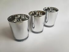 48 SILVER Votive Tealight Candle Holder BULK BUY 48 PACK Parties Weddings Events