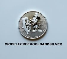 2017 Niue 1 oz. Silver Mickey Mouse Steamboat Willie $2 Coin w/Protective Flip