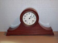 Unusual Waterbury Mantle Clock With Porcelain Dial