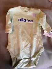 NEW Ole Miss Rebels One Piece Outfit 18 Months Infant Soft Green  New With Tags