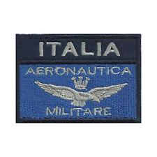 [Patch] BANDIERA AERONAUTICA ITALIA MILITARE v. blu grigio cm 7 x 5 ricamo -171
