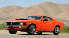 "1970 BOSS 429 FORD MUSTANG MACH 1 43"" x 24"" LARGE HD WALL POSTER PRINT NEW"