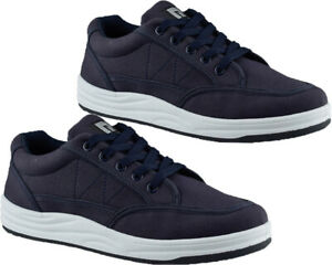 Mens Lace Up Canvas Flat Walking Driving Sports Skater Shoes Gym Trainers