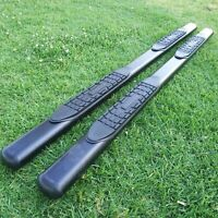 """For 09-14 Ford F150 Super Crew Cab 4"""" Running Board Side Step Nerf Bar Oval BLK"""