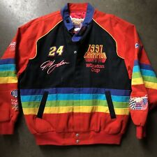 Men's Vintage Jeff Hamilton Jeff Gordon 1997 Champion Rainbow NASCAR Jacket Sz M