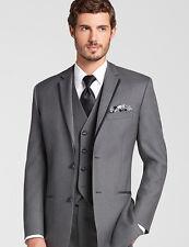 Grey Men Suits Tailored Men Wedding Suits Business Tuxedos Best Man Suit 3 Piece